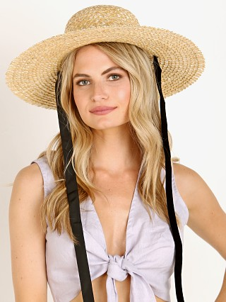 Lack of Color Dolce Sun Hat Natural with Black/White