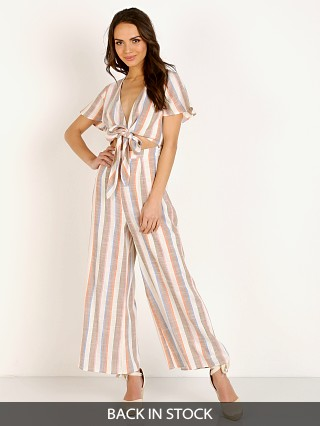 Show Me Your Mumu Val Jumpsuit Shorebert Stripe