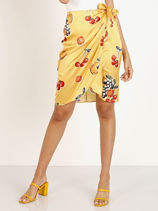 Show Me Your Mumu Anjolie Wrap Skirt Fruit Basket