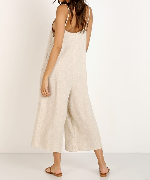 Show Me Your Mumu Jansen Jumpsuit Cream Linen