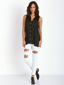Show Me Your Mumu Caz Collared Top Silky Black