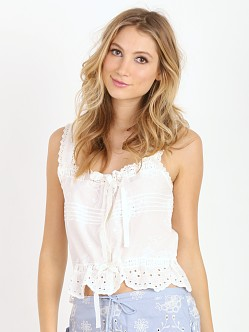 Spell & the Gypsy Casablanca Crop Top White