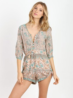 Spell & the Gypsy Boho Blossom Playsuit Sage