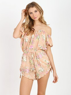 Spell Sundancer Off The Shoulder Romper Blush