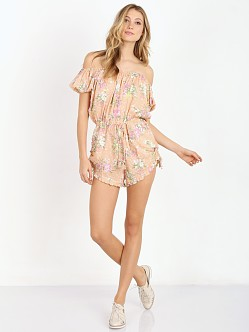 Spell & the Gypsy Sundancer Off The Shoulder Romper Blush