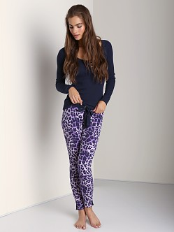 Juicy Couture Cozy Thermal Legging Dalia Mave Cheetah