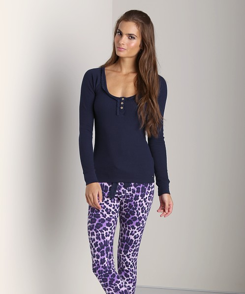 Juicy Couture Cozy Thermal Henley Regal