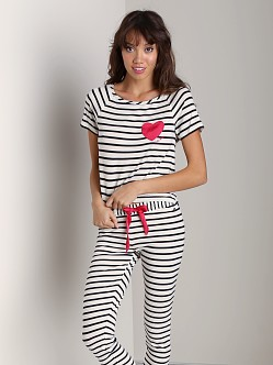 Juicy Couture Bella Tee Angel/Black Stripe