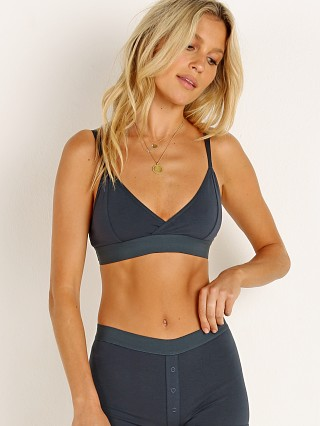 Model in blue nights Richer Poorer Classic Bralette