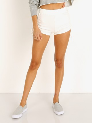 Model in white NIA Drawstring Hacci Short