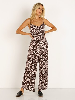 Model in safari Nation LTD Pippa Jumpsuit