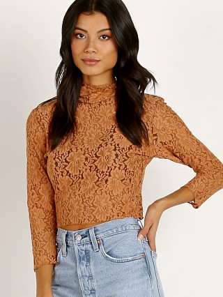 Hot As Hell Lace Crop Brown Sugar