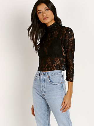 Hot As Hell Lace Crop Noir