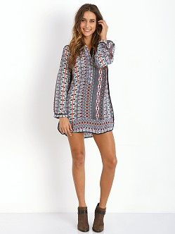 Tolani Natasha Tunic Dress Red Diamond