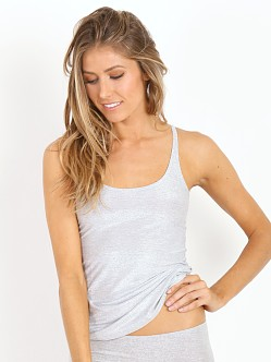 Only Hearts Metallic Skinny Tank Grey Silver