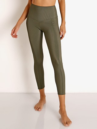 Model in olive Onzie Sweetheart Midi Rib Legging