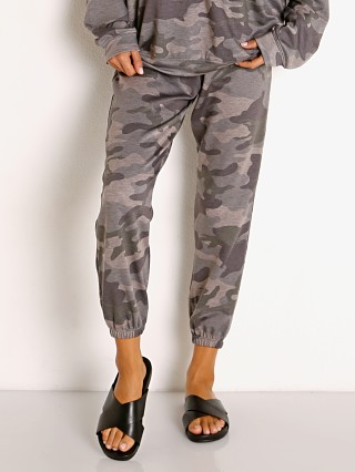 Model in combat camo Onzie Fleece Sweatpant