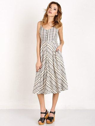 Knot Sisters Tulum Dress Cream/Black Stripe