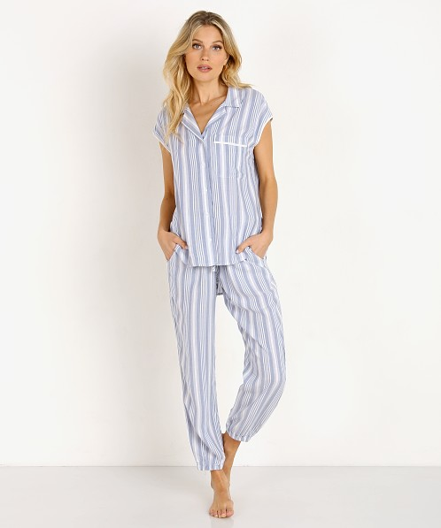 Bella Dahl Sleep Tee & Jogger Dusty Blue