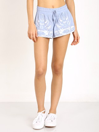 Some Days Lovin Moody Embroidered Short Blue