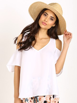 Show Me Your Mumu Hazel Ruffle Top White Crisp