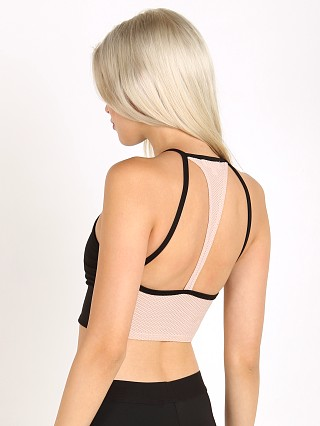 LNA Clothing Marlo Active Crop Black/Nude
