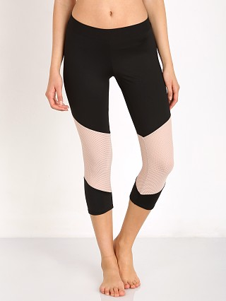 LNA Clothing Division Active Crop Black/Nude