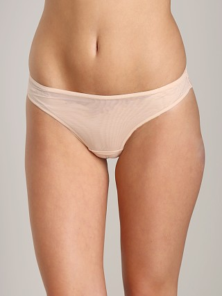Model in nude Timpa Mesh Thong