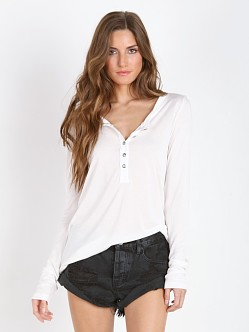 Stillwater The Long Sleeve Henley Ivory