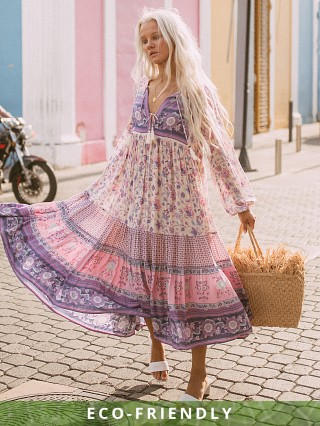Spell & The Gypsy Portobello Road Boho Dress Lavender