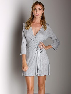Only Hearts Venice Ruffle Back Robe Grey