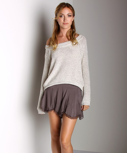 Free People Sahara Star Pullover Ice Combo