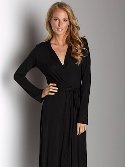 Only Hearts Venice Long Robe Black