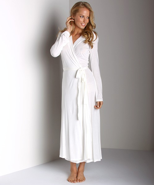 Only Hearts Venice Long Robe Antique White