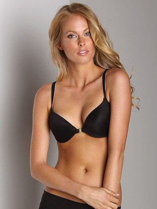Donna Karan Luxe Front Close Demi Bra Black