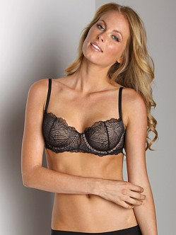 Donna Karan Ethereal Lace Balconette Bra Black