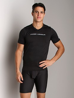 Under Armour Heatgear Touch Fitted Shortsleeve V-Neck Black