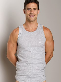 Emporio Armani Stretch Cotton Tank Top Melange Grey