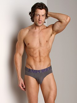 Emporio Armani Eagle Stretch Cotton Brief Asphalt Grey