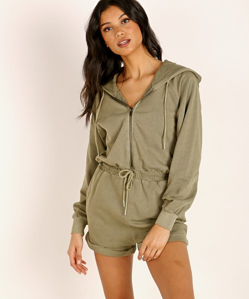 L Space Stay Cool Romper Washed Army