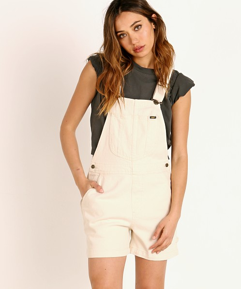 Lee Relaxed Short Overall Ecru