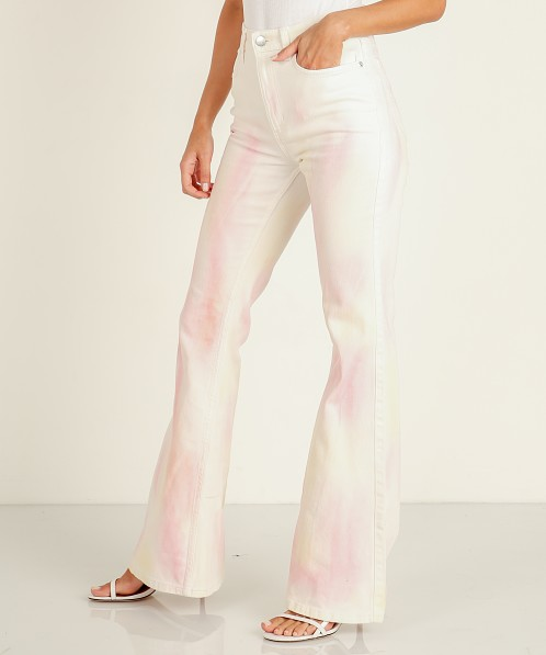 Lee High Rise Flare Tie Dye High
