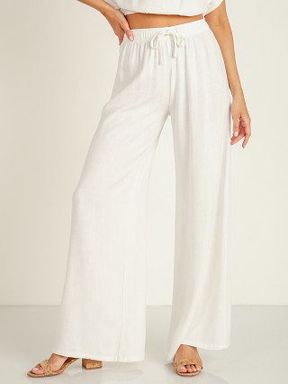 Stillwater The Venice Wide Leg Pant White