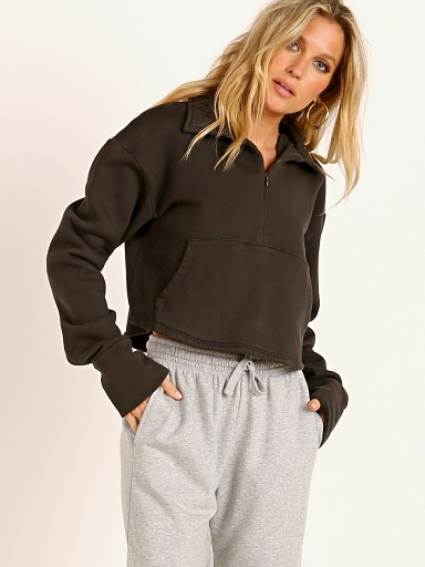 Joah Brown Aspen French Terry Half Zip Charcoal
