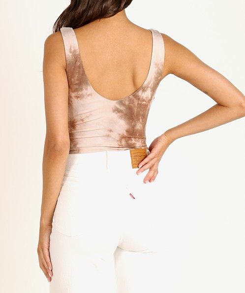 ASTR the Label Retrograde Bodysuit Mocha Tie Dye