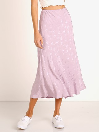 Model in lilac ASTR the Label Nava Skirt