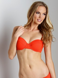 L Space Sweet & Chic Demi Underwire Bikini Top Paprika
