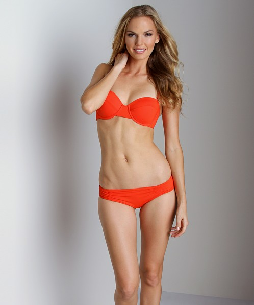 L Space Sweet & Chic Monique Bitsy Cut Bikini Bottom Paprika