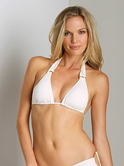 L Space Sweet & Chic Angel Halter Bikini Cream
