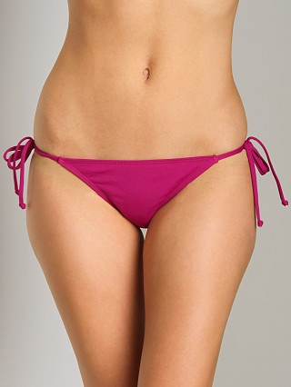 L Space Sensual Solids Oh La La Bikini Bottom Back Berry